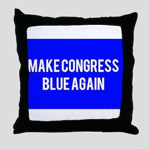 Make congress blue again Throw Pillow