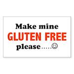 gluten free Rectangle Sticker
