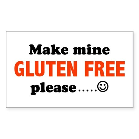 gluten free Rectangle Sticker
