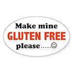 gluten free Oval Sticker