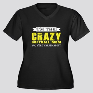 I'm The Crazy Softball Mom T Shi Plus Size T-Shirt