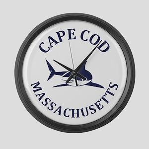 Summer cape cod- massachusetts Large Wall Clock