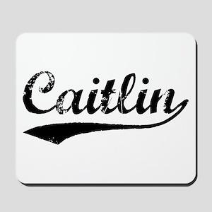 Vintage Caitlin (Black) Mousepad