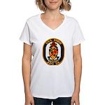 USS FORD Women's V-Neck T-Shirt