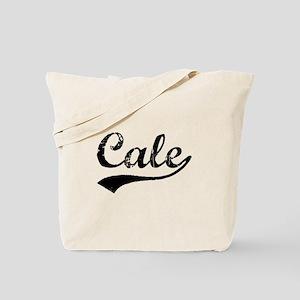 Vintage Cale (Black) Tote Bag