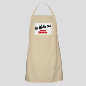 """The World's Best Food Server"" BBQ Apron"