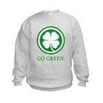 St Patricks Day Go Green Funn Kids Sweatshirt