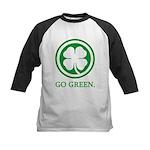 St Patricks Day Go Green Funn Kids Baseball Jersey