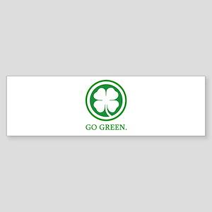 St Patricks Day Go Green Funn Bumper Sticker