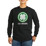 St Patricks Day Go Green Funn Long Sleeve Dark T-S
