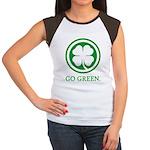 St Patricks Day Go Green Funn Women's Cap Sleeve T