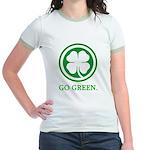 St Patricks Day Go Green Funn Jr. Ringer T-Shirt