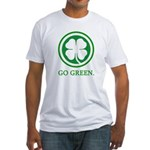 St Patricks Day Go Green Funn Fitted T-Shirt