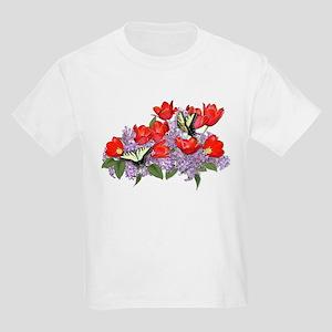 Yellow Swallowtail Butterfly Kids T-Shirt