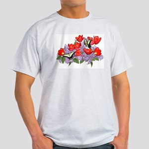 Yellow Swallowtail Butterfly Ash Grey T-Shirt