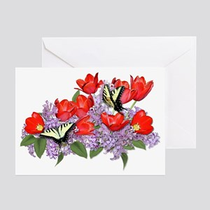Yellow Swallowtail Butterfly Greeting Cards (Packa