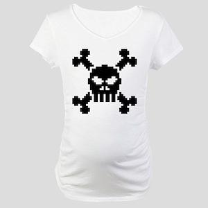 Pixel Skull Maternity T-Shirt