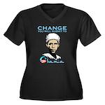 Obama - Change Women's Plus Size V-Neck Dark T-Shi