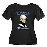 Obama - Change Women's Plus Size Scoop Neck Dark T