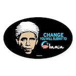 Obama - Change Oval Sticker