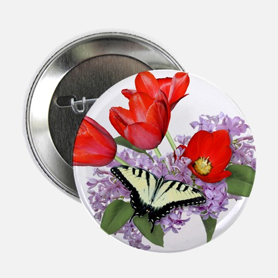 Yellow Swallowtail Butterfly Button