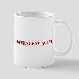 Government Agent Red Stencil Design Mugs