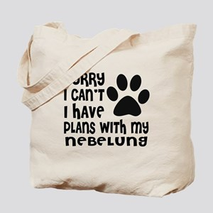 I Have Plans With My Nebelung Cat Designs Tote Bag