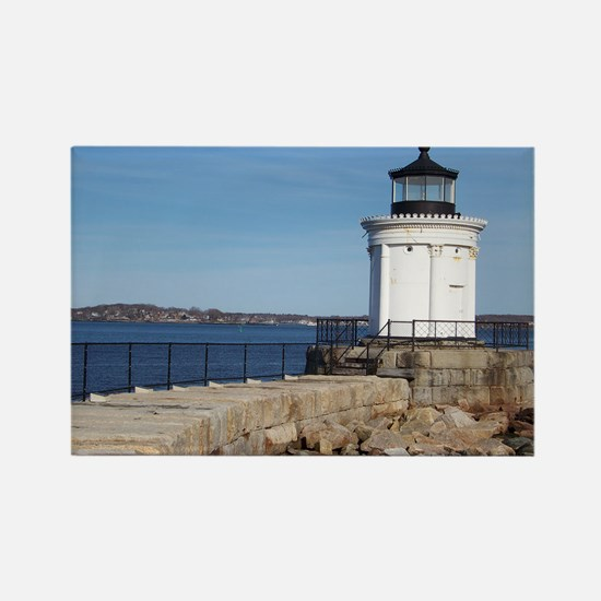 Scenic Bug Lighthouse on Main Rectangle Magnet
