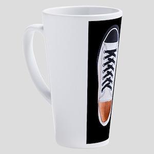 Black and White Sneaker Shoes 17 oz Latte Mug