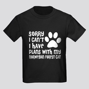I Have Plans With My Norwegian F Kids Dark T-Shirt