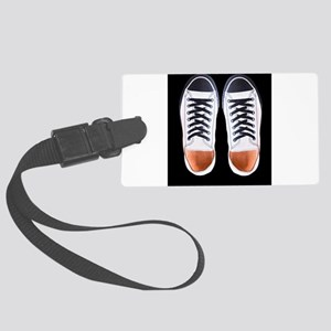 Black and White Sneaker Shoes Large Luggage Tag