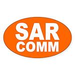 SAR COMM Oval Sticker