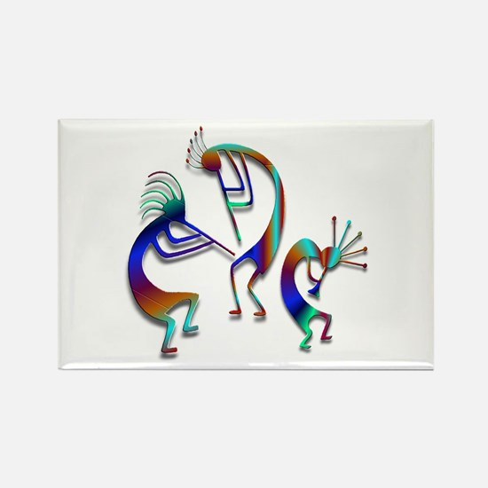 Three Kokopelli #109 Rectangle Magnet (10 pack)