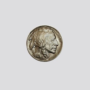 Classic Indian head NickelMini Button