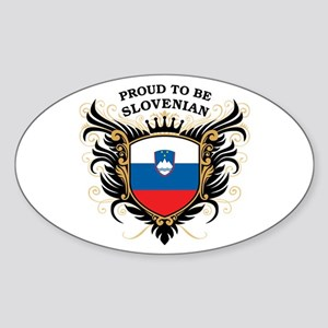 Proud to be Slovenian Oval Sticker