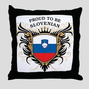 Proud to be Slovenian Throw Pillow
