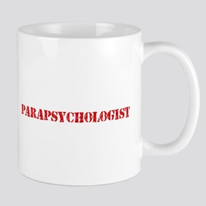 Parapsychologist Red Stencil Design Mugs