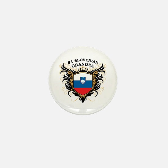 Number One Slovenian Grandpa Mini Button