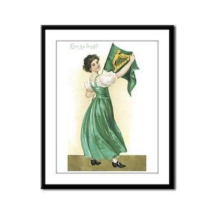 Erin Go Bragh Vintage St. Pat Framed Panel Print