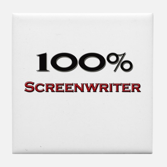 100 Percent Screenwriter Tile Coaster