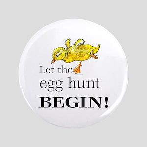 """Easter egg hunt 3.5"""" Button"""