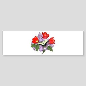 Yellow Swallowtail Butterfly Bumper Sticker