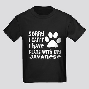 I Have Plans With My Javanese Ca Kids Dark T-Shirt