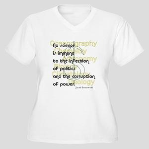 Bronowski Quote Women's Plus Size V-Neck T-Shirt