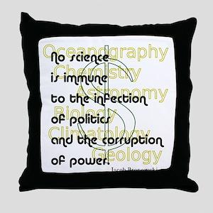 Bronowski Quote Throw Pillow