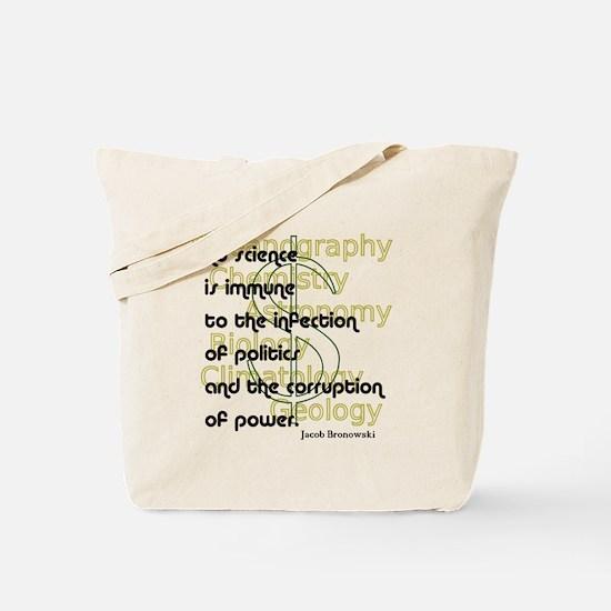 Bronowski Quote Tote Bag