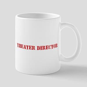 Theater Director Red Stencil Design Mugs