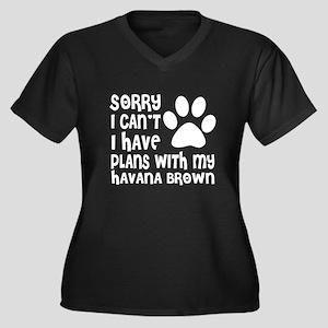 I Have Plans Women's Plus Size V-Neck Dark T-Shirt