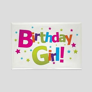 birthday girl coloful Rectangle Magnet