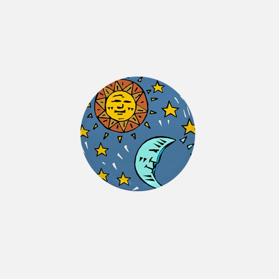 SUN, MOON & some STARS Mini Button